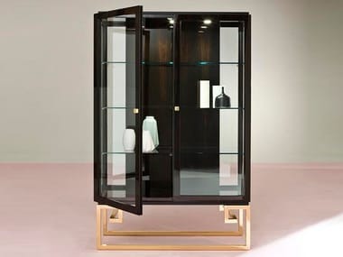 Ebony display cabinet LESTE