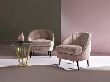 Fabric armchair MERGOZZO