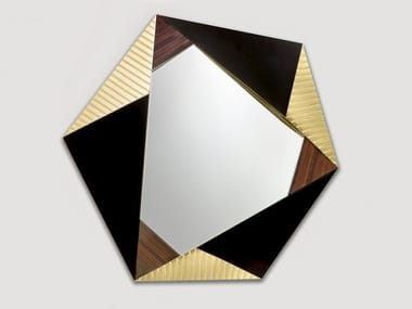 Wall-mounted framed mirror FOHN