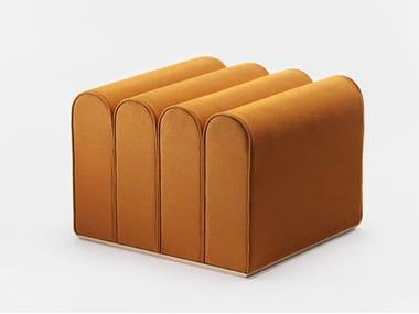 Rectangular fabric pouf ARKAD