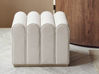 Rectangular fabric pouf ARKAD