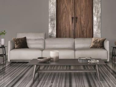 Sectional leather sofa ARLOTT LOW   Leather sofa