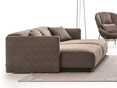 Sectional fabric sofa ARLOTT LOW | Fabric sofa