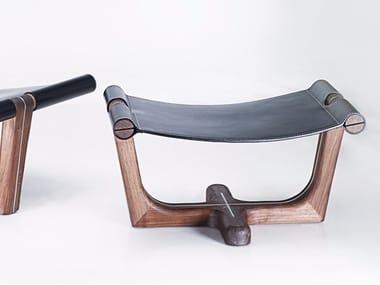 Leather footstool ARMADA | Footstool