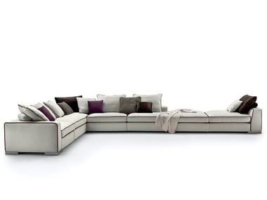 3 seater fabric sofa with removable cover ARMAND
