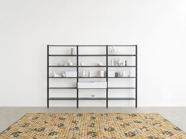 Floor-ceiling mounted bookcase ARMIDA