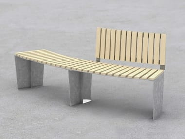 Curved steel Bench ARMONIA | Curved Bench