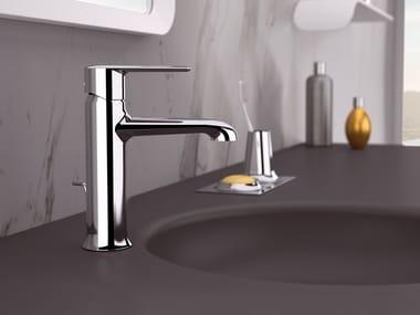 Countertop single handle brass washbasin mixer ARMONIA | Washbasin mixer