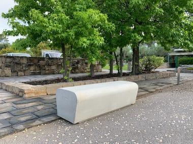 Panchina modulare in calcestruzzo senza schienale ARO | Panchina