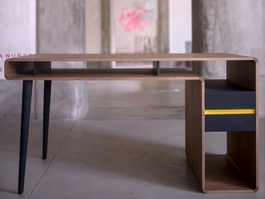 Rectangular writing desk with drawers AROUND.U | Writing desk