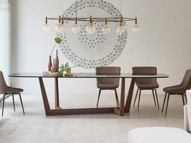 Rectangular ceramic or glass table ART WOOD