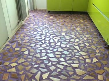 Ecologic resin wall/floor tiles ARTEVIVA FUSION