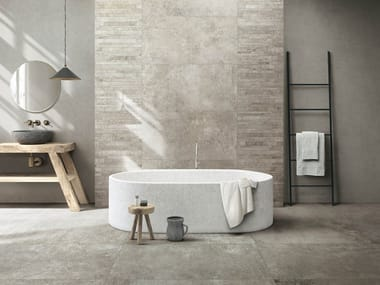 Glazed stoneware wall/floor tiles with concrete effect ARTIFACT OF CERIM
