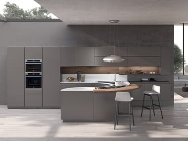 Lacquered kitchen with peninsula ARTIKA | Kitchen with peninsula