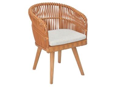 Synthetic fibre garden chair with armrests ARUBA 2 DAC