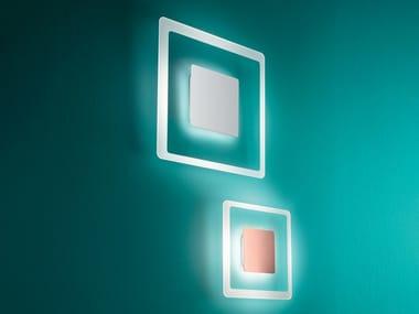 Lampada da parete a LED in acciaio e vetro ARUBA | Lampada da parete
