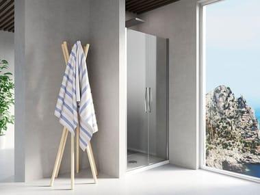 Niche shower cabin with hinged door ARUBA