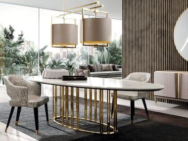 Tavolo ovale in marmo ASCOT