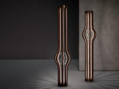 Lampada da terra a LED in legno ASHAA