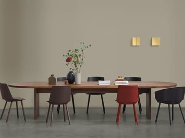 Oval solid wood table ASHIDA | Oval table