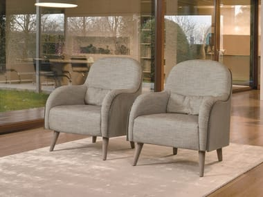 Fabric easy chair with armrests ASIA