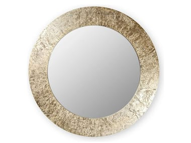 Round wall-mounted framed mirror ASIA | Round mirror