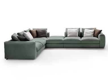 Sectional fabric sofa ASOLO