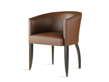 Leather chair with armrests ASPEN