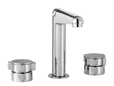 3 hole washbasin tap with adjustable spout ASTER | 3 hole washbasin tap