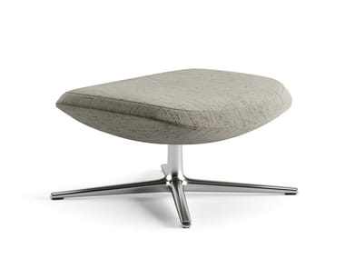Upholstered fabric footstool with 4-spoke base ASTON CLUB | Footstool