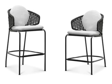 High stool with back ASTON CORD OUTDOOR   Stool