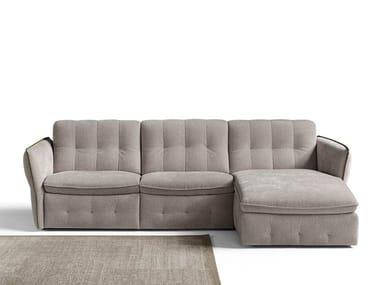 Divano reclinabile a 3 posti con chaise longue ASTON