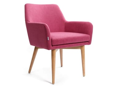 Fabric chair with armrests ASTON