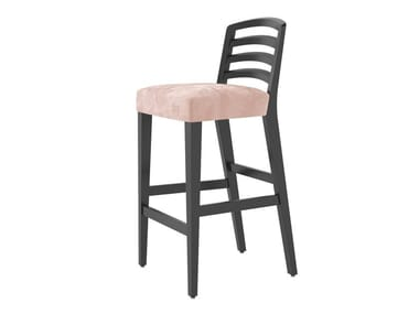 Fabric barstool with footrest ASTRA | Stool