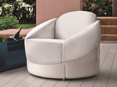 Dacron® armchair with removable cover ASTREA