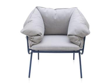 Cadeira lounge de tecido para jardim com braços ATAMAN MESH | Cadeira lounge