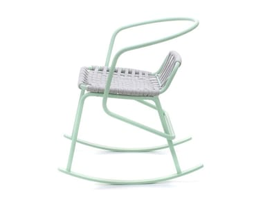 Rocking rope garden chair with armrests ATAMAN | Rocking chair