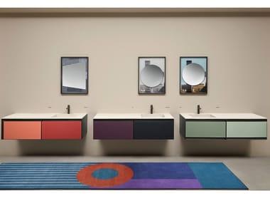Mobile lavabo componibile laccato sospeso ATELIER COLORE