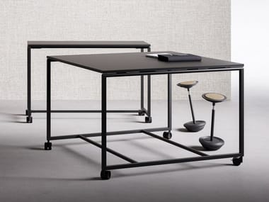 High meeting table with castors ATELIER | High meeting table