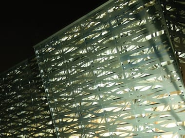 Perforated and embossed sheet for facade ATENA ARCHITECTURAL  SHEET