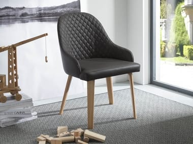 Upholstered chair with armrests ATENA