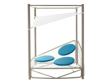 Canopy garden bed with parasol ATOLLO | Garden bed with parasol