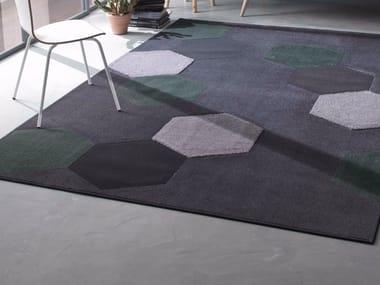 Contemporary style handmade rectangular synthetic fibre rug ATOM