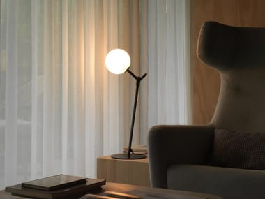 Metal table lamp with fixed arm ATOM | Table lamp