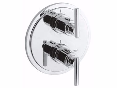 Wall-mounted thermostatic bathtub/shower mixer with diverter ATRIO CLASSIC JOTA | 2 hole bathtub mixer