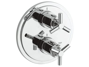 2 hole thermostatic shower / bathub mixer with plate ATRIO CLASSIC YPSILON | Shower tap