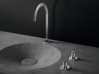 Countertop washbasin tap with individual rosettes ATRIO ICON 3D | Countertop washbasin tap