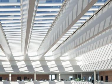 Finestra da tetto in acciaio e vetro ATRIUM LONGLIGHT/RIDGELIGHT
