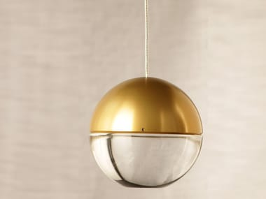 LED Anodized aluminium pendant lamp with dimmer AURA
