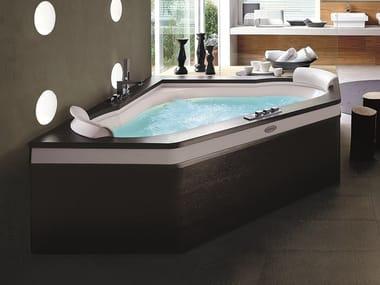 2 seater corner whirlpool bathtub AURA CORNER 160